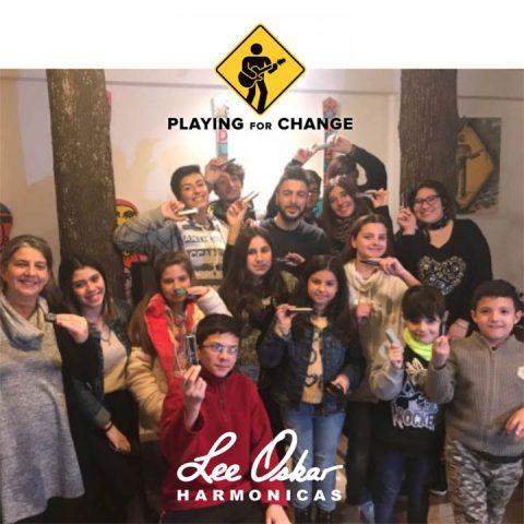 Argentinean Harmonica Students Play Lee Oskar Melody