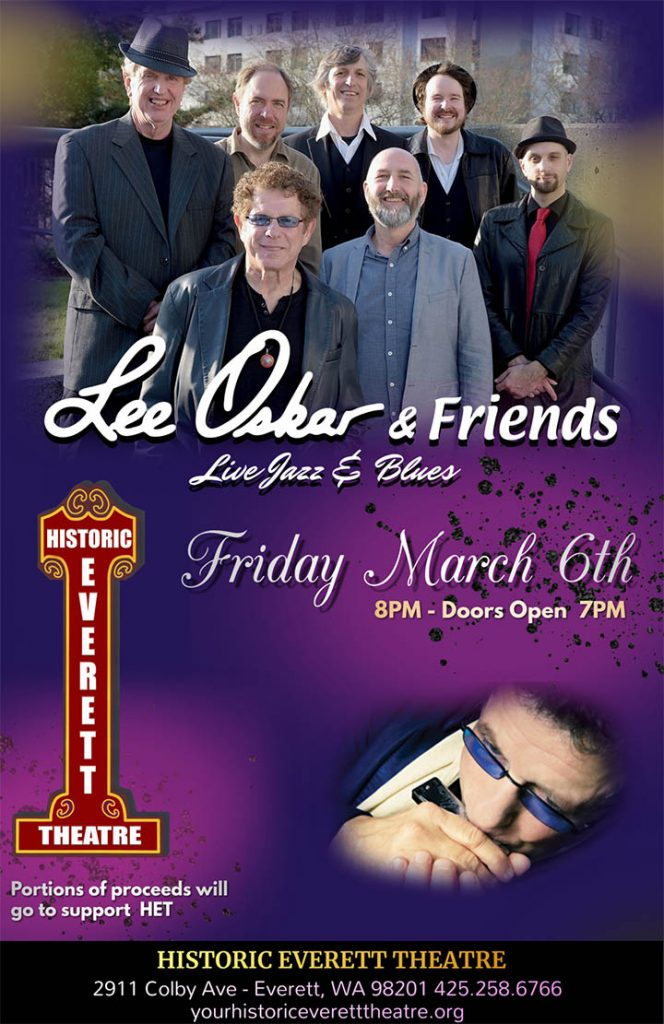 Lee Oskar & Friends Live at Historic Everett Theatre March 6th