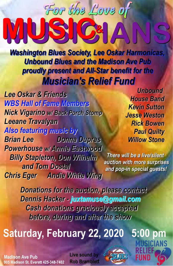 Musicians Relief Fund poster
