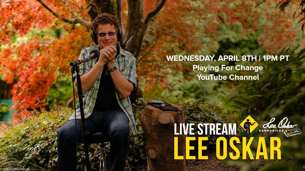 Lee Oskar Playing For Change Livestream Wednesday April 8th 1PM PST